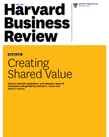 Creating Shared Value Porter & Kramer
