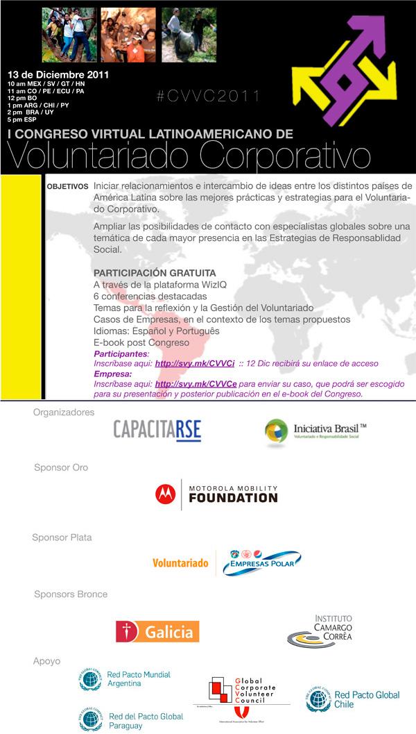 CapacitaRSE e Iniciativa Brasil invitan a participar del 1er Congreso Virtual de Voluntariado Corporativo